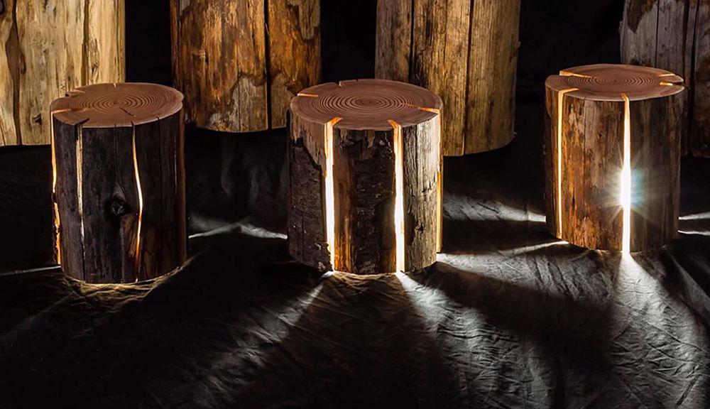 adelaparvu.com despre lampi din busteni, Cracked Log Lamps, designer Duncan Meerding (6)