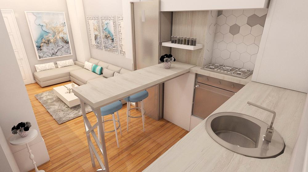 adelaparvu.com despre locul frigiderului in bucatarie, Foto 3D design Alderamin Studio Bucuresti (5)