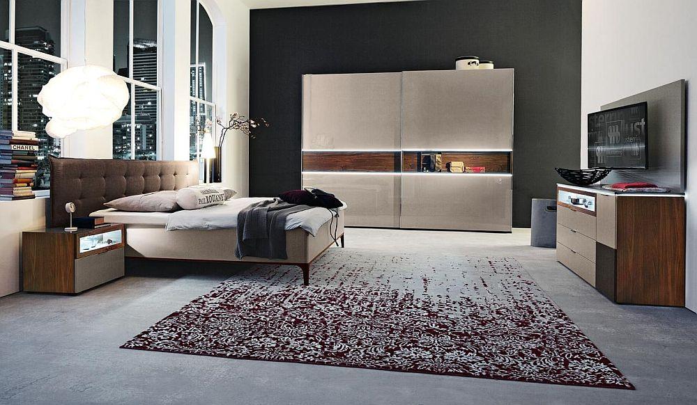 """Dormitor """"Ivona"""", brand Nolte, piese fabricate în Germania cu design contemporan. Vezi detalii despre dimensiuni, materiale și preț AICI."""
