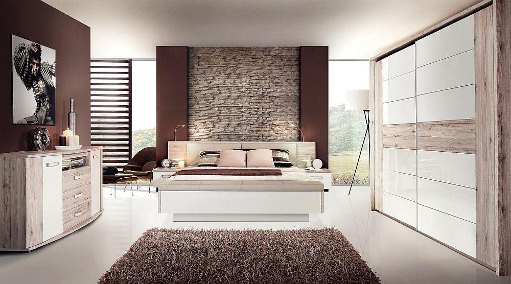 """Dormitor """"Rondino"""", Patul include băncuță prevăzută cu spațiu pentru depozitare. Tăblia patului include sistem de iluminare LED. Vezi dimensiuni, finisaje, preț AICI."""