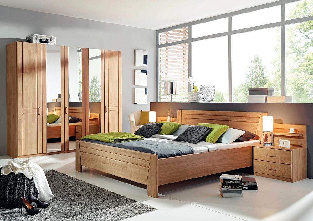 Dormitor Sitara, fabricat în Germania din esență de arțar, parțial masiv. Vezi dimensiuni, finisaje, preț AICI.