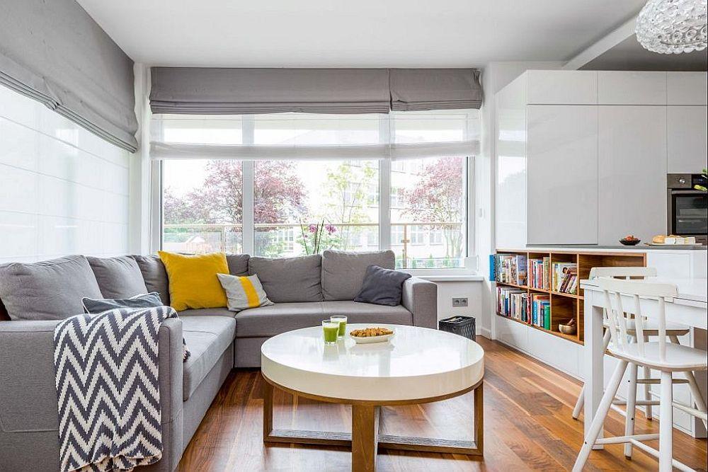 adelaparvu.com despre apartament lung si ingust 70 mp, interior design Desenie, Foto Marcin Urban (2)