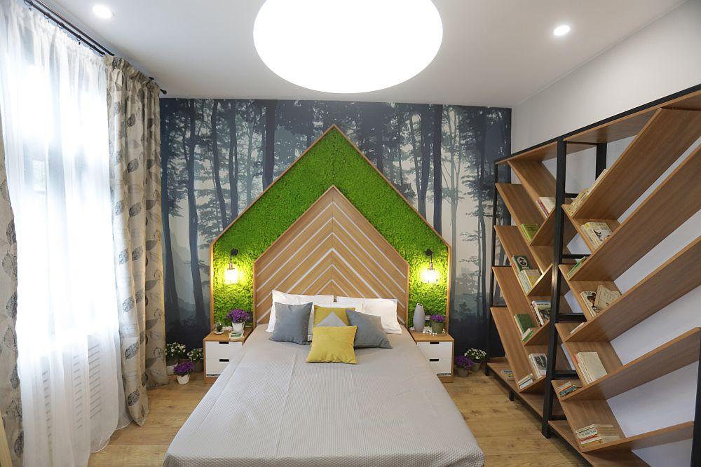 Dormitorul băieților după renovare, gândit de către arh. Valentin Ionașcu.