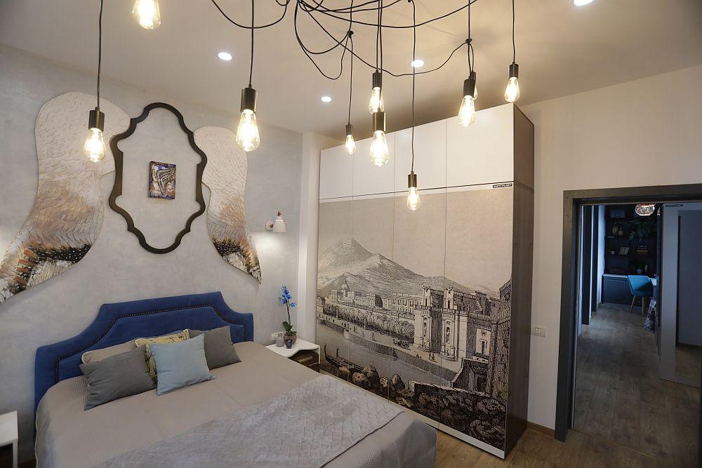 Dormitorul părinților după renovare, proiect gândit de Cristina Joia.
