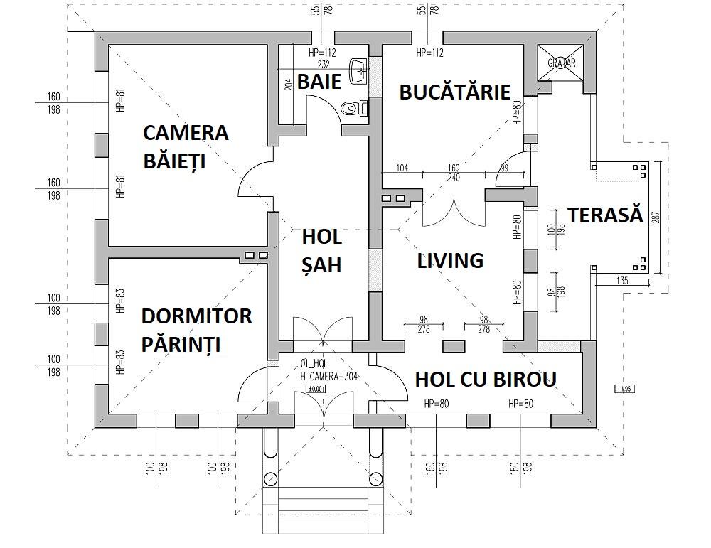 Planul casei după renovarea făcută de echipa Visuri la cheie.