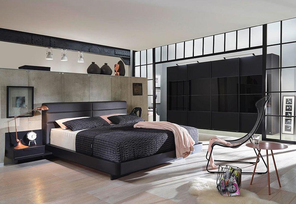 Dulap model 7Up și pat tapițat model Lucca. Vezi detalii despre dulap și preț AICI. Detalii despre pat, dimensiuni, preț AICI.