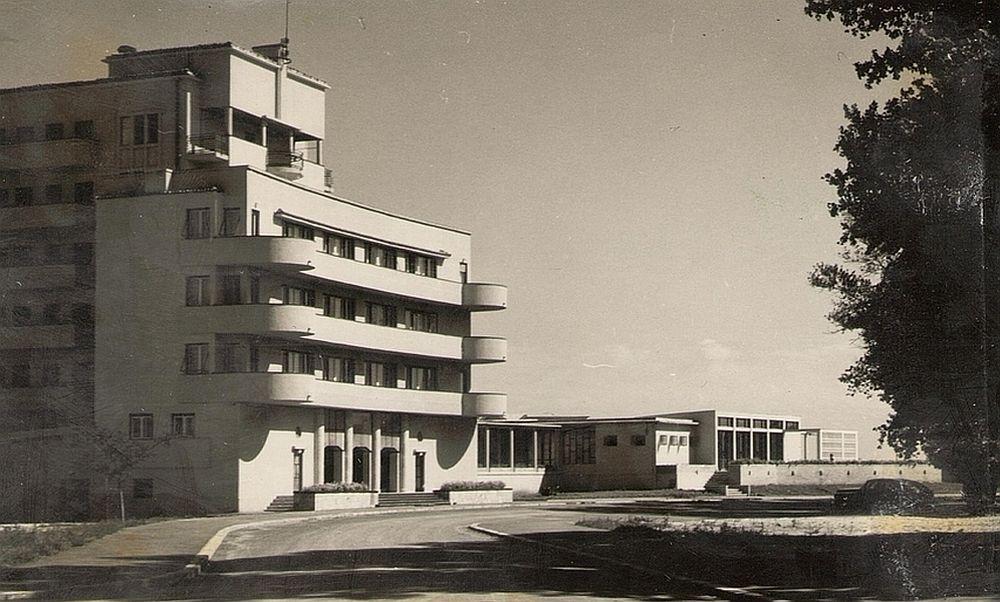 Imagine de arhivă 1958 cu Vila Albastros Mamaia.