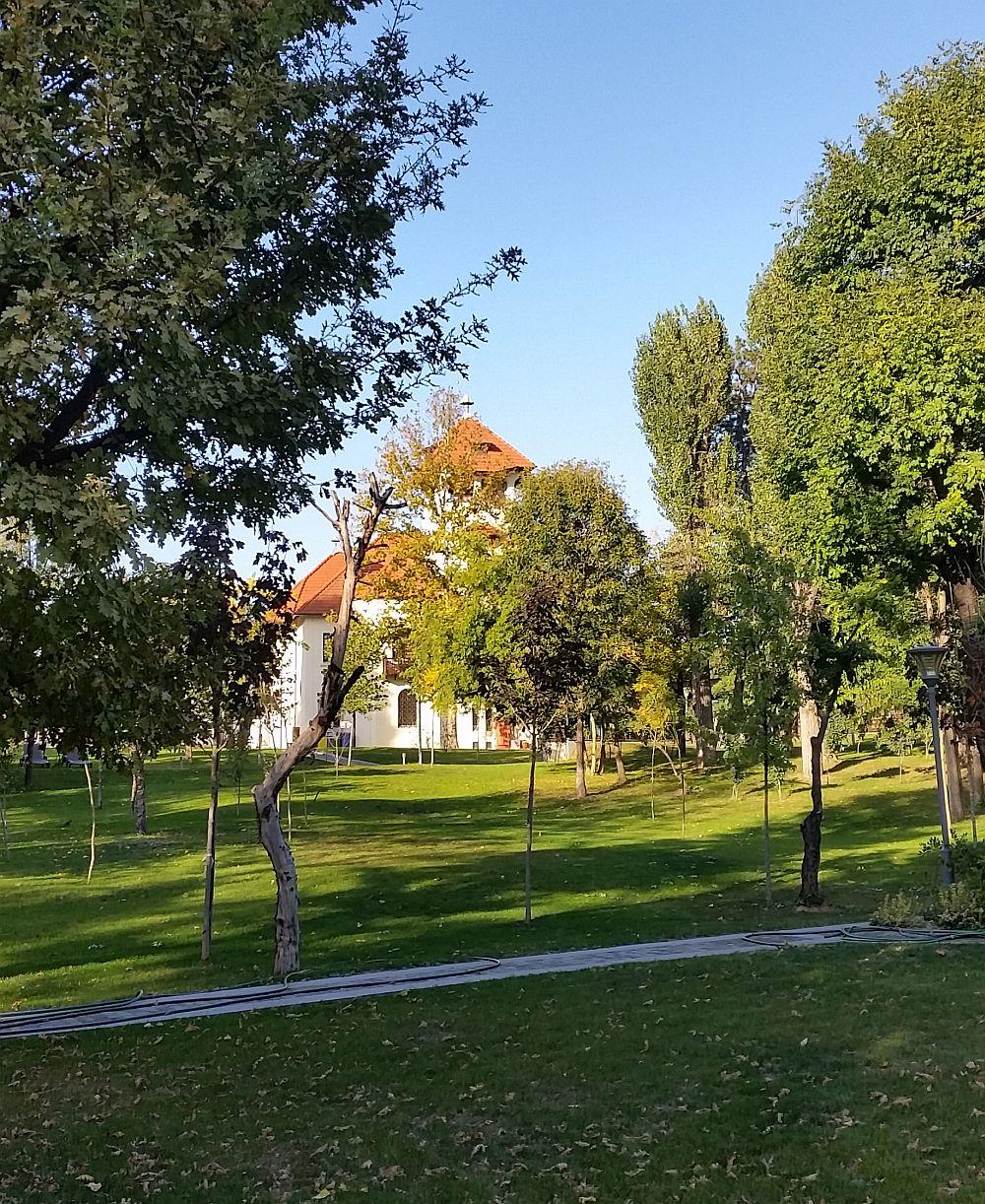 Vila văzută dinspre parc.