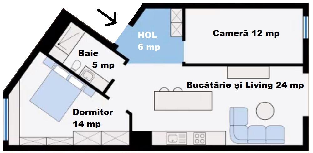 adelaparvu.com despre amenajare apartament 61 mp, design interior Anna Krzak, Foto Bartosz Janosz (17)