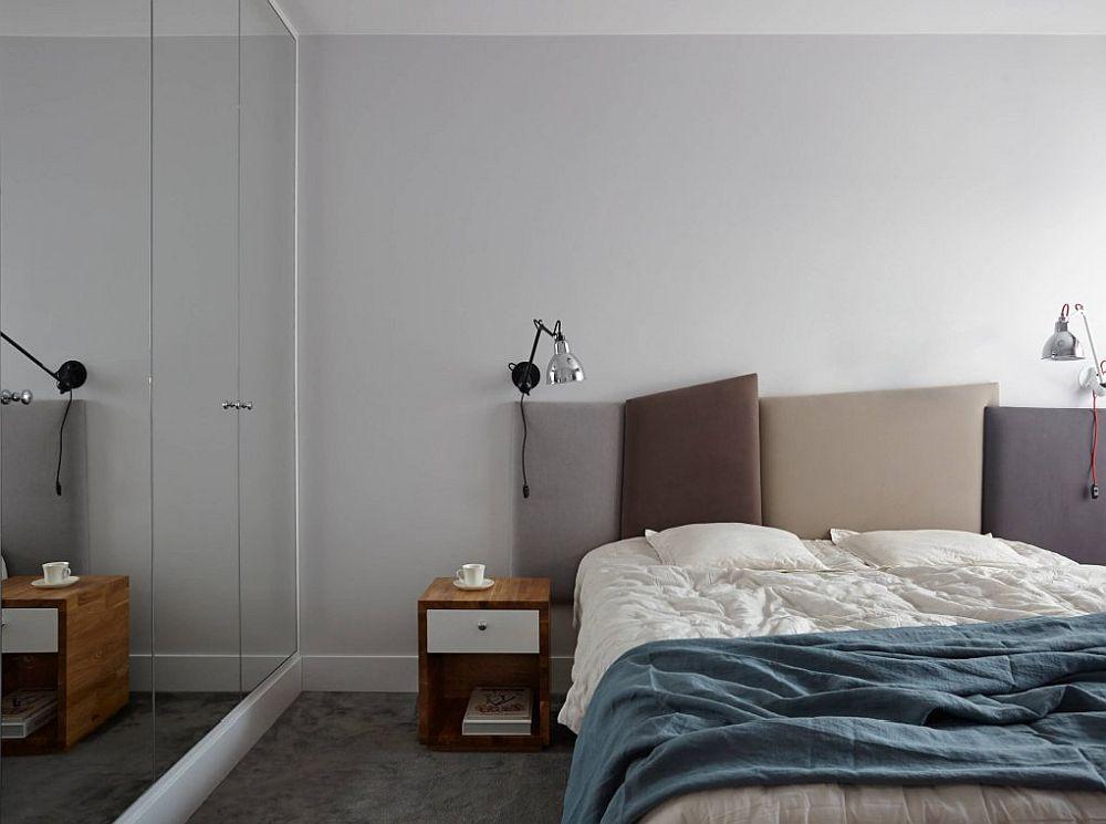 Da, de multe ori dormitoarele nu sunt foarte generoase, dar și când sunt, modul cum sunt prevăzute fereastra ori ușa de la intrare pur și simplu nu mai lasă loc pentru instalarea unui loc de birou.