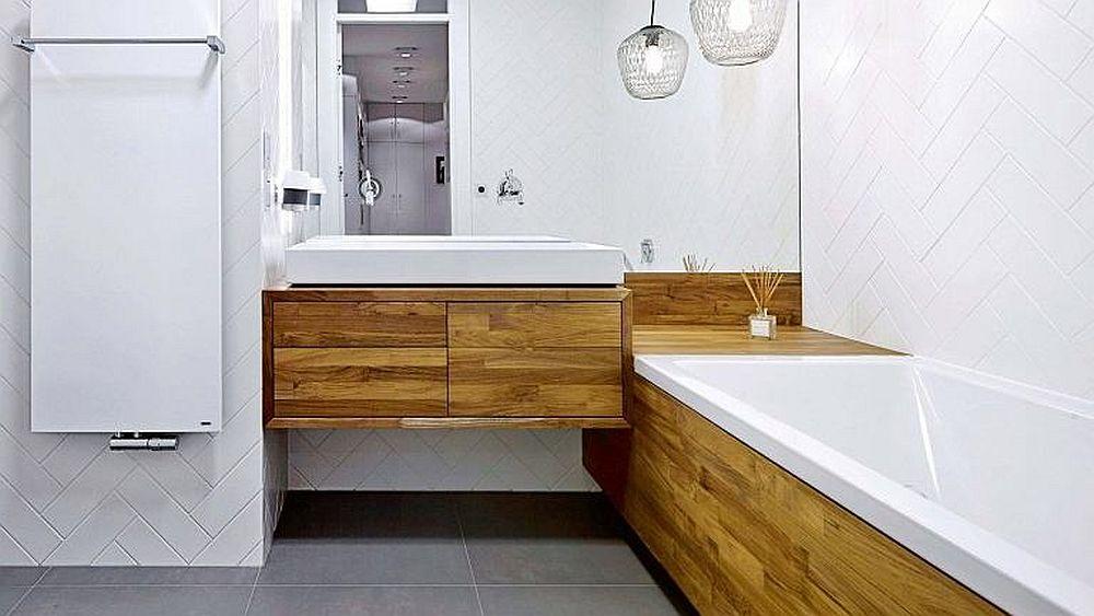 adelaparvu.com despre apartament cu loc de birou pe hol, design interior ID Studio Polonia (9)