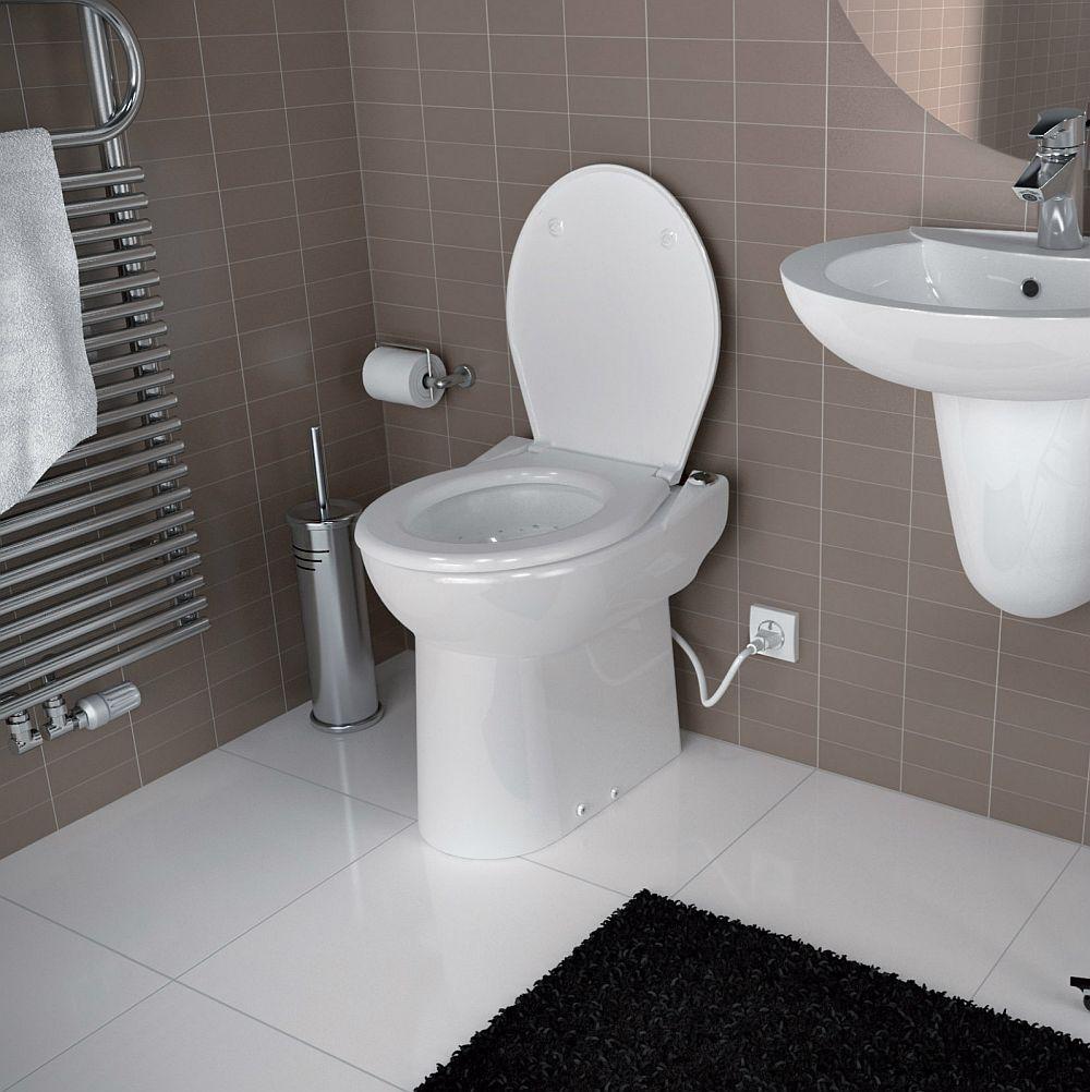Da, un vas de toaletă conectat la o pompă de tocare și evacuare are nevoie de alimentare electrică.