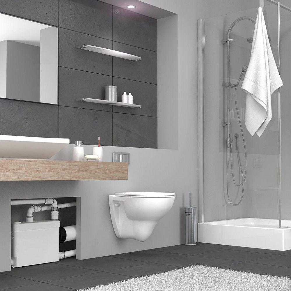 Pompele de tocare și evacuare pot fi foloste nu doar pentru vasele de toaletă, ci pentru conecctarea tuturor obiectelor sanitare dintr-o baie pentru a asigura funcționalitatea acesteia. Pompa poate fi mascată în spatele pereteluid e gips-carton, iar în fața ei montată o ușă de vizitare. Există pompe special concepute și pentru vasele wc suspendate.