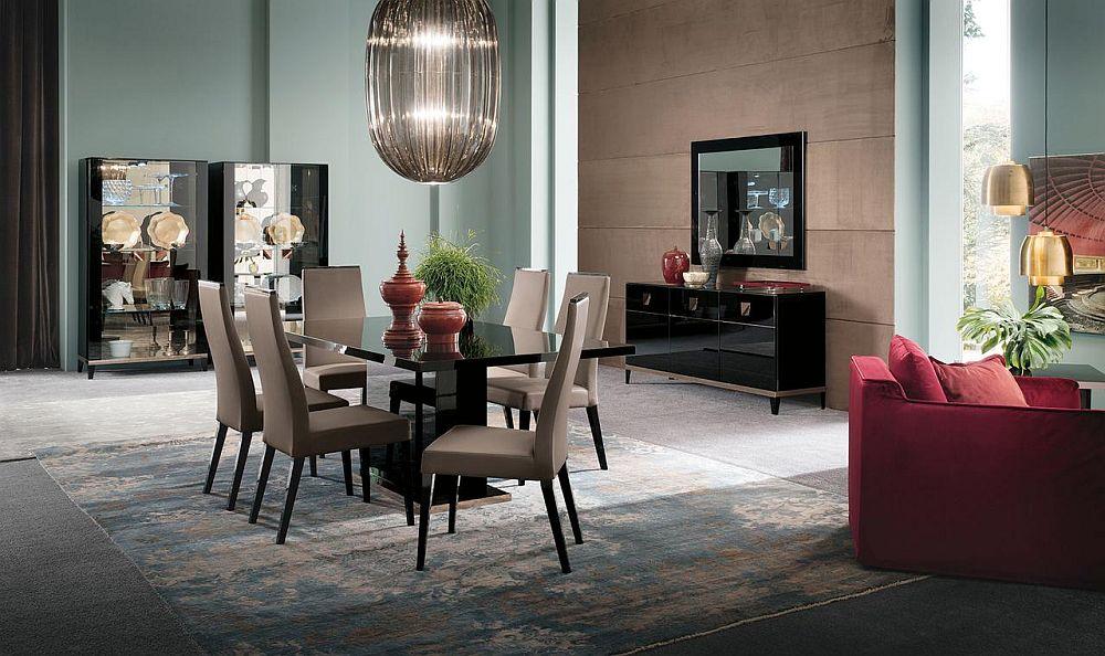 Gama elegantă Mont Noir pentru sufragerie. Piesele pot fi cumpărate separat. Vezi detalii despre număr piese, dimensiuni, preț AICI.