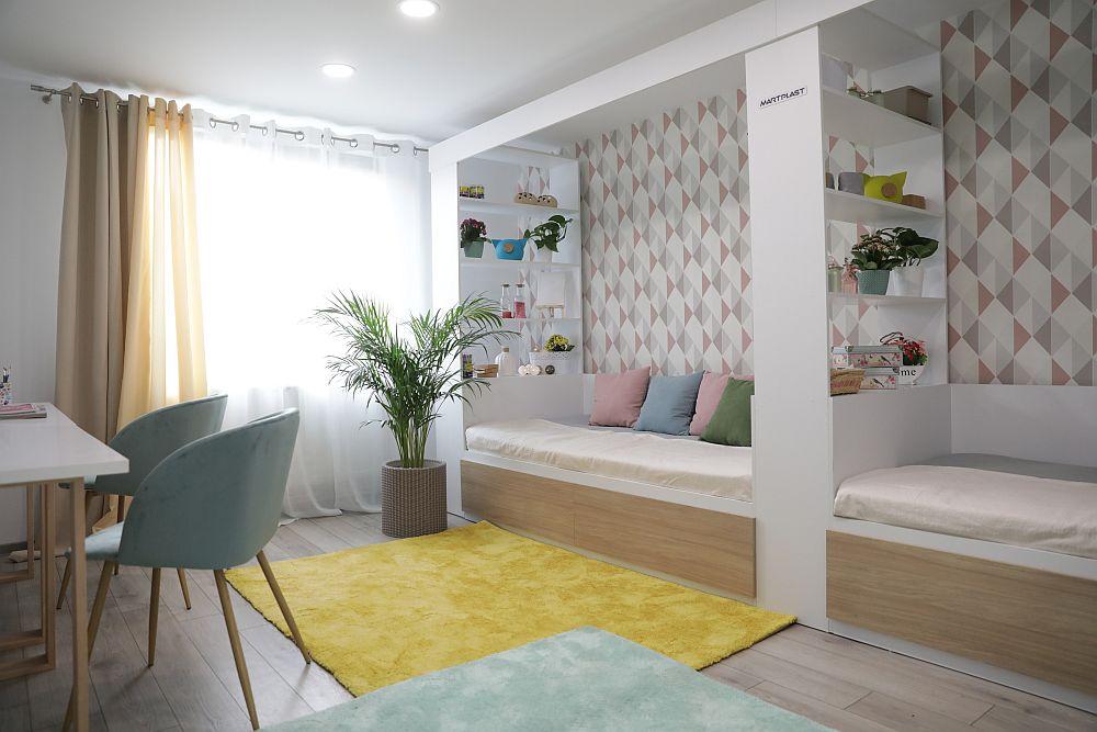 Camera fetelor DUPĂ renovarea făcută de către echipa Visuri la cheie.