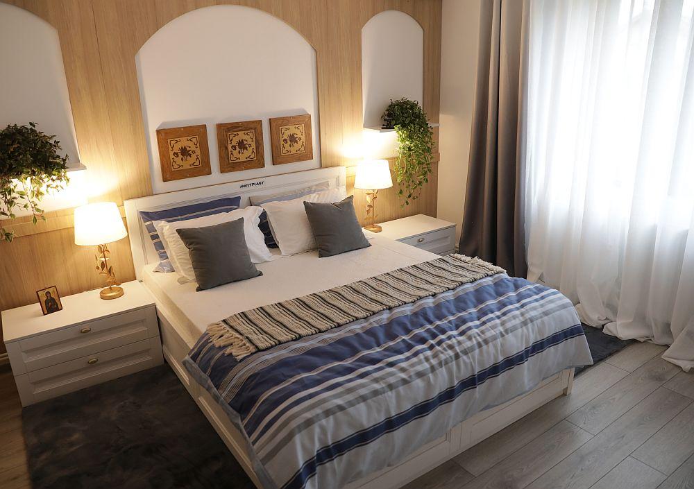 Dormitorul DUPĂ renovarea făcută de către echipa Visuri la cheie.