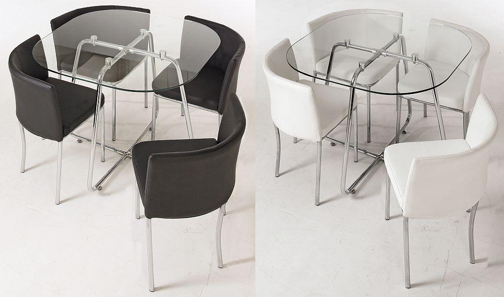 """Set dining """"4You2"""" - PE NEGRU SAU ALB - VEZI LINK AICI Preț vechi: 849 lei Preț nou: 679 lei Reducere: 20% Include 5 piese: masă și 4 scaune"""