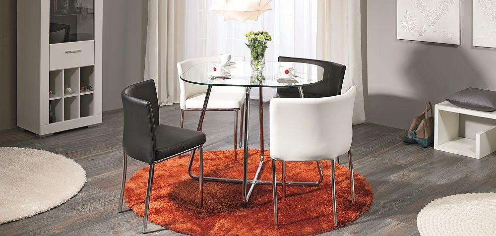 """Set dining """"4You2"""" - VEZI LINK AICI Preț vechi: 849 lei Preț nou: 679 lei Reducere: 20% Include 5 piese: masă și 4 scaune"""