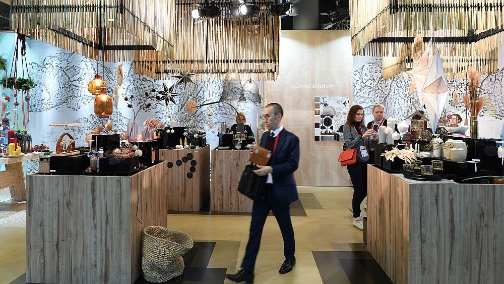 Spațiul expozițional dedicat trendului Sobrietate echilibrată de la Christmastworld Frankfurt ianuarie 2018.