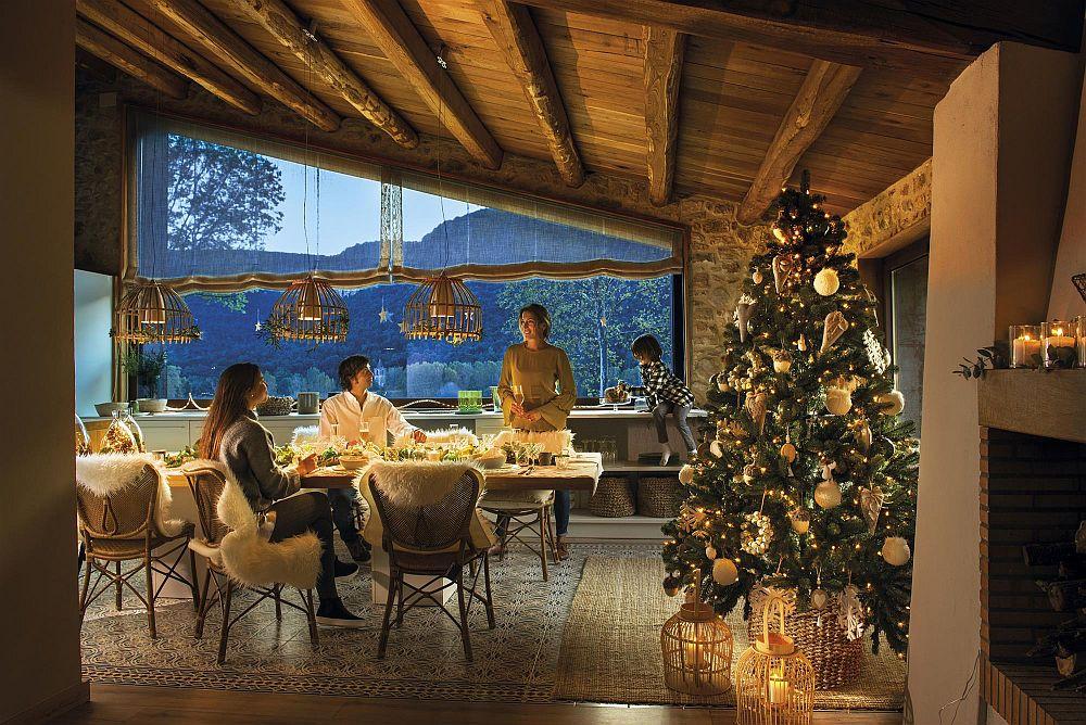adelaparvu.com despre cabana de munte decorata de Craciun, arhitectura Aresta Arquitectura, Foto ElMueble, Stella Rotger (5)