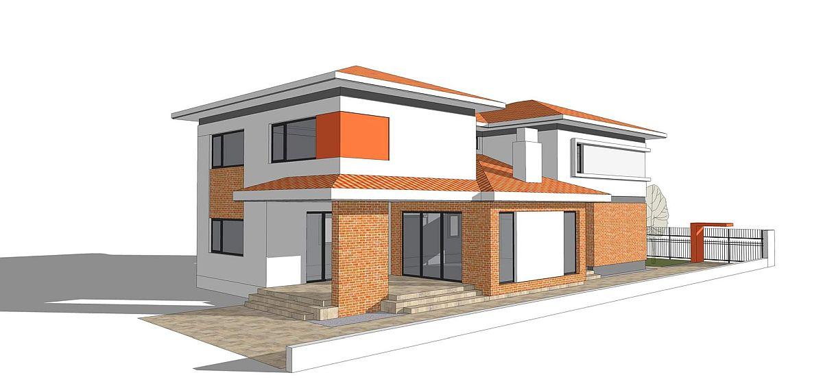 Varianta 1 de acoperiș pentru terasă.