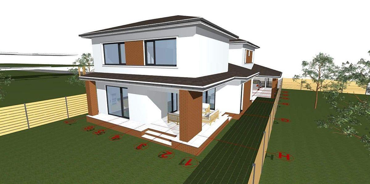 Varianta 2 de acoperiș pentru terasă.