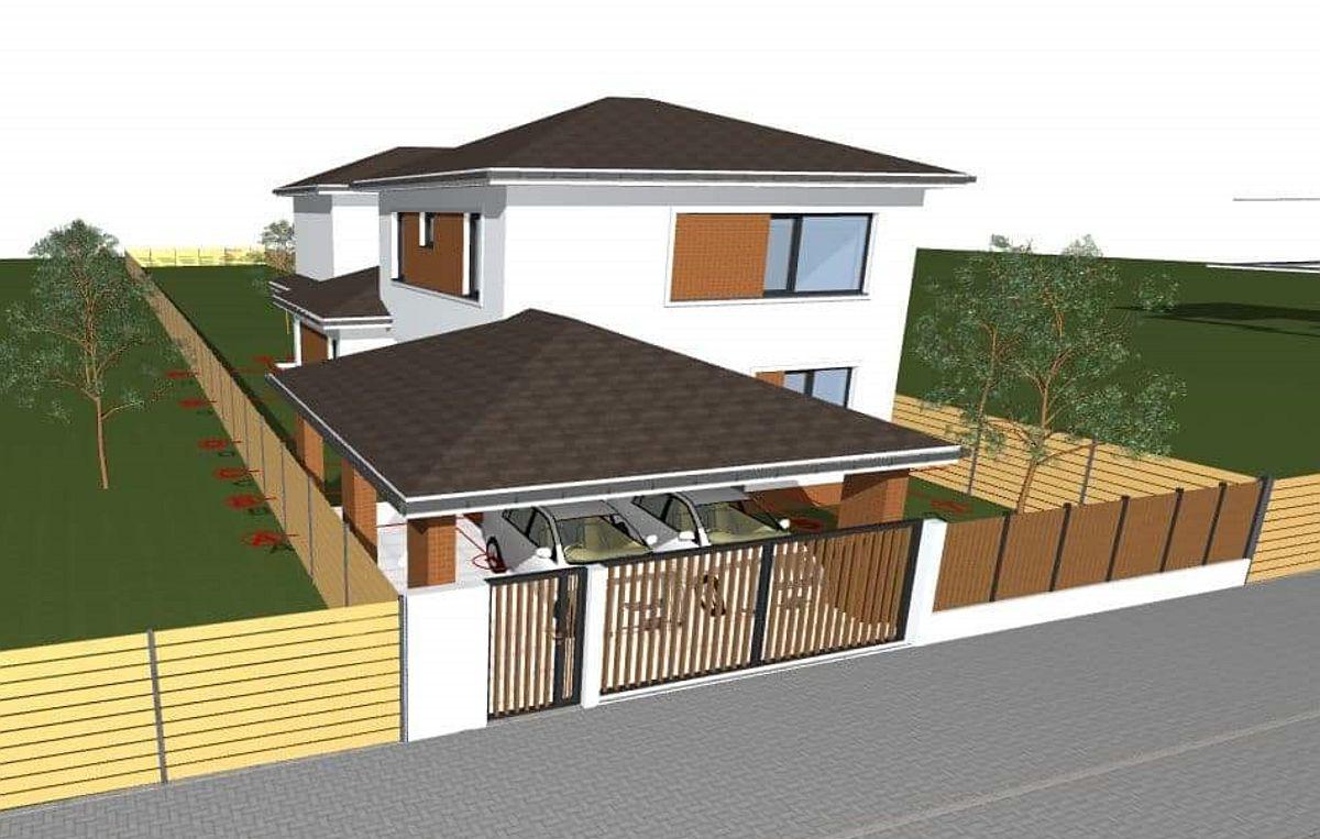 Varianta 2 de carpot cu acoperiș similar casei.