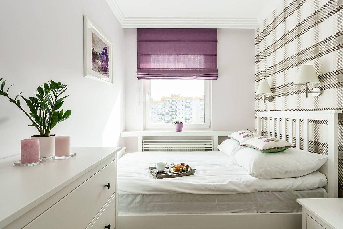 Dormitorul este amenajat în fosta bucătărie, a cărei lățime era de doar de 2,20 metri. Ca atare lungimea patului aproape că ocupă întregul spațiul pe lățime. Dar era un compromis necesar. De asemenea, fosta bucătărie a putut fi transformată în dormitor pentru că aici nu era montată centrală termică. Conform normativelor în vigoare centrala termică nu poate fi amplasată în spații destinate odihnei.