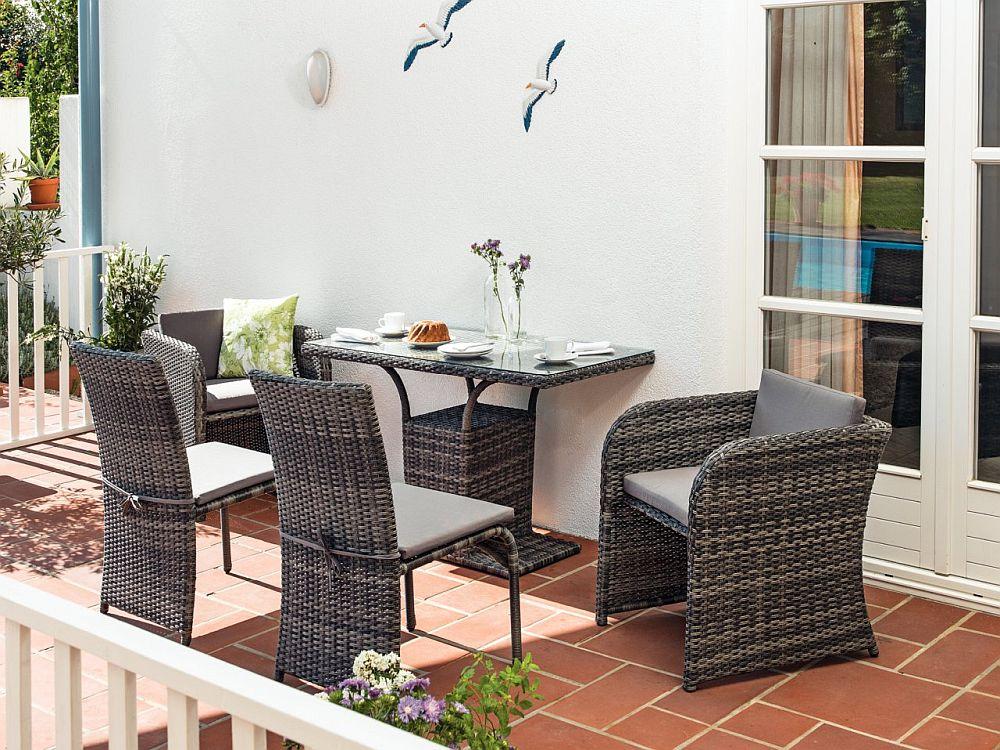 Model mobilier grădină Haiti. Include cinci piese. Vezi dimensiuni, materiale, preț AICI.