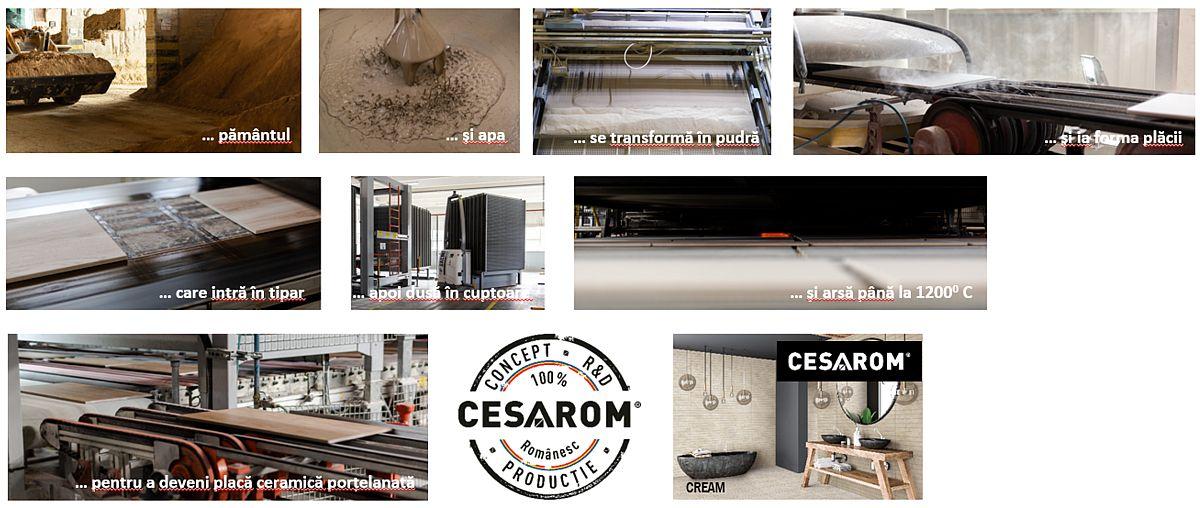Etapele în producția de plăci ceramice. Am postat mai multe filmulețe pe care le-am surprins în fabrica de la Cluj-Napoca.