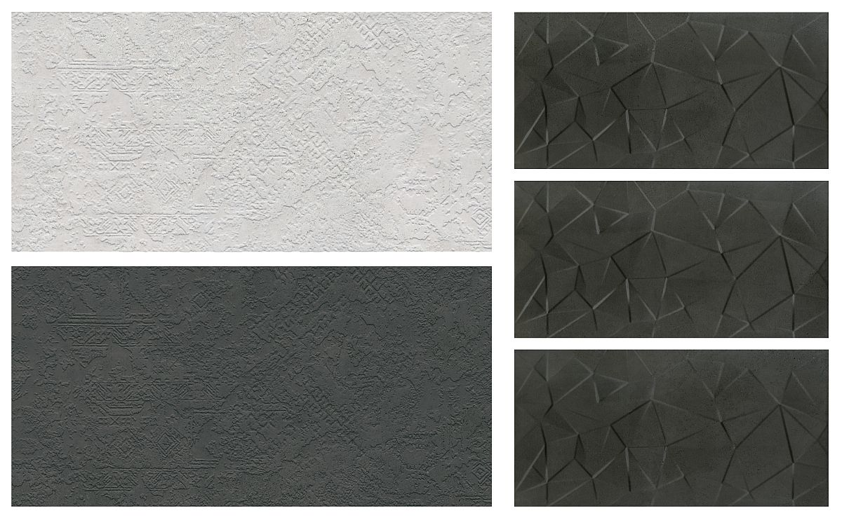 Gama Move din colecția CESAROM® 2019 este deosebită. Include plăci cu model 3D în relief. Unele cu textură de-a dreptul artistică, celelalte cu modele geometrice.