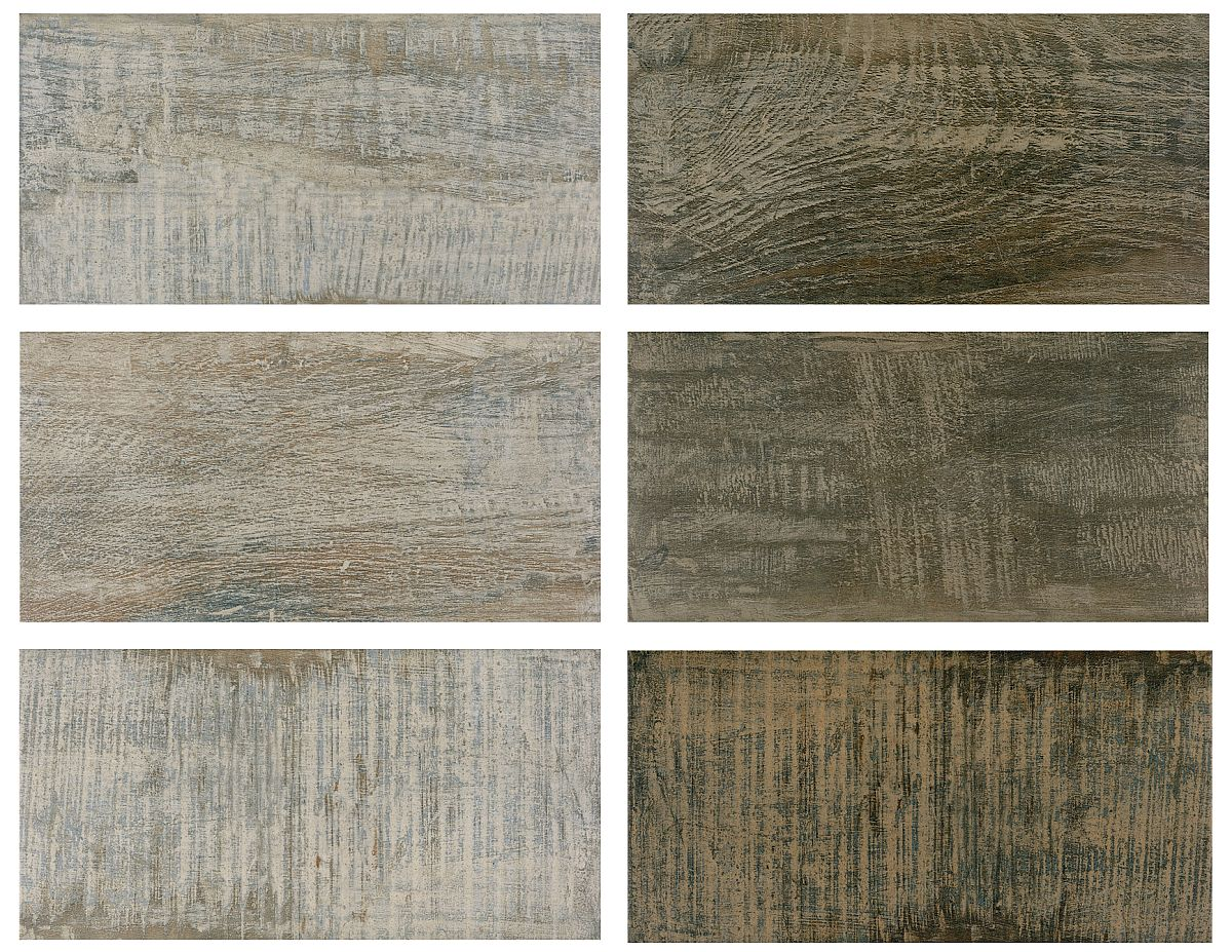 Gama de plăci ceramice Retrowood din colecția CESAROM® 2019 are un aspect similar lemnului periat și este disponibilă în două nuanțe.