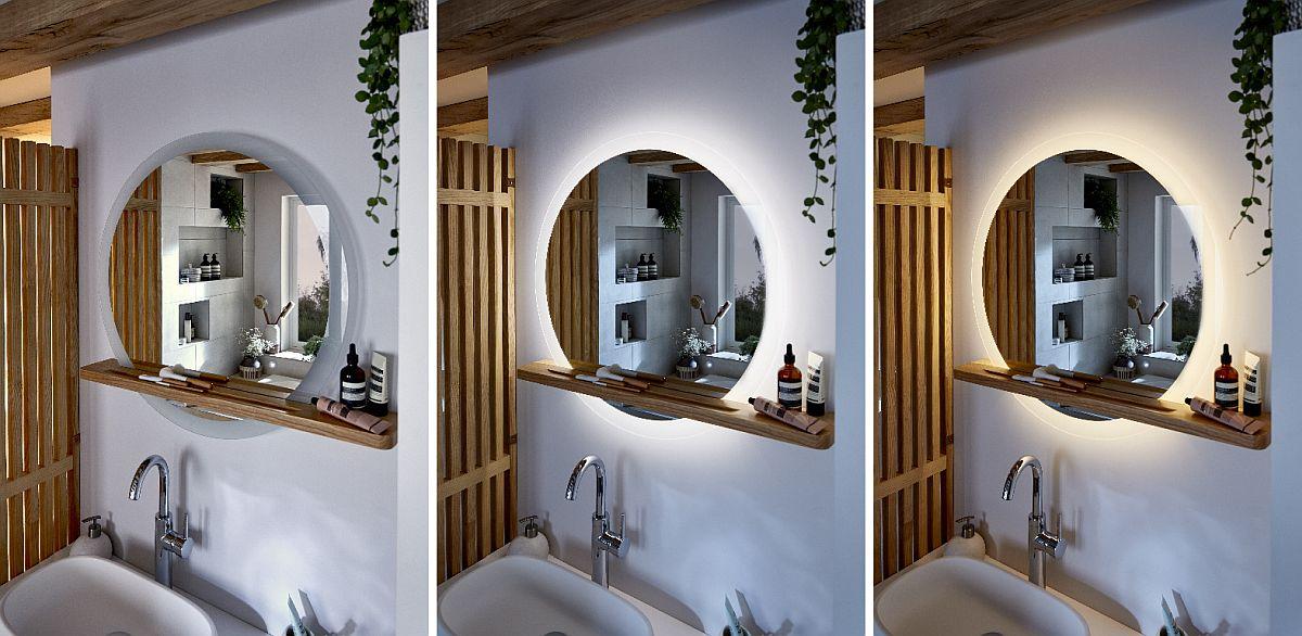 Noua gamă de mobilier pentru baie clar mi-a plăcut foarte mult! Asta înseamnă design la prețuri accesibile! Fiecare piesă din colecție se vinde independent, așa că îți poți mobila baia cum dorești. Mi-a plăcut mult oglinda rotundă cu raft din lemn din gama Adriska, oglindă care are trei intensități de lumină. Apoi sistemul de racordare al lavoarului, unul slim, încastrat sub lavoar pentru ca sub el să poată fi instalat un raft suplimentar în corpul de mobilier. Vezi Video mai jos. Riflajele din lateral, panoul cu zăbrele din lemn, se vinde și el separat, deci îl poți folosi creativ în amenajări, nu doar pentru baie.