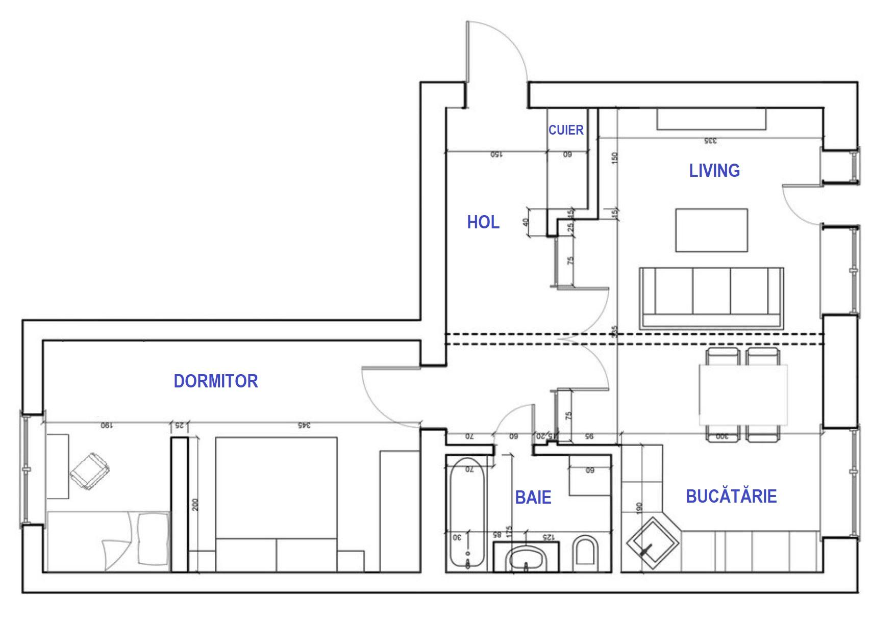 adelaparvu.com despre amenajare apartament 2 camere, 50 mp, design ElBorn Studio, Foto (18)