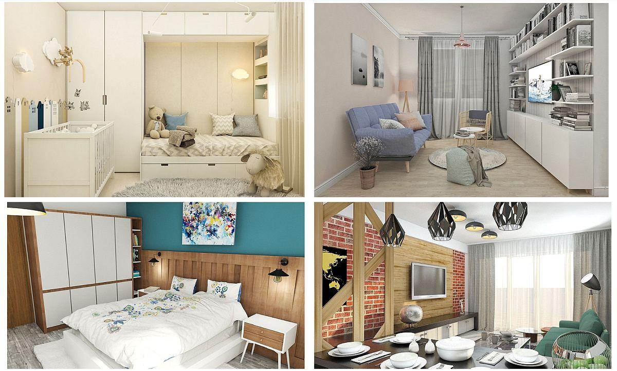 Trei camere (link AFI City) pentru o familie cu doi copii, două camere (link AFI City) pentru un cuplu tânăr, un studio (link AFI City) pentru un iubitor de animale de companie – toate sunt scenarii reale pentru care vei afla secrete de amenajare conform stilurilor de viață actuale.