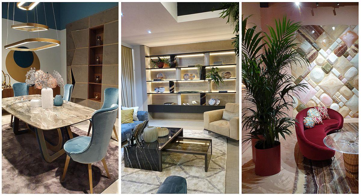 Marmura a fost foarte prezentă în standurile expozanților de la Salone del Mobile 2019, de la blaturi de mese de sufragerie, măsuțe de living la placări inedite ale pereților.