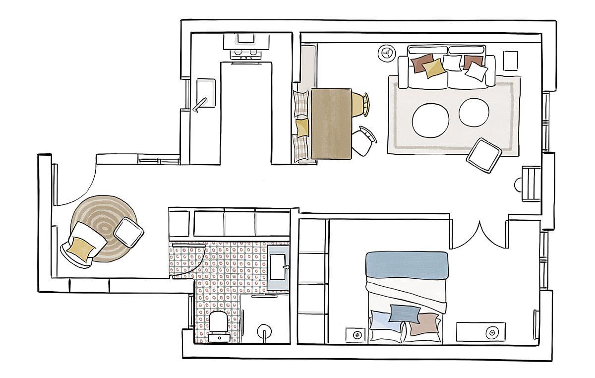 adelaparvu.com despre amenajare apartament 50 mp, designer Pia Capdevila, Foto Pepa Oromi (10)