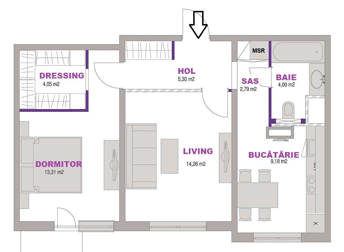 adelaparvu.com despre amenajare apartament cu mobila veche, 54 mp, designer Maria Mikena, Foto Evgeny Kulibaba (10)