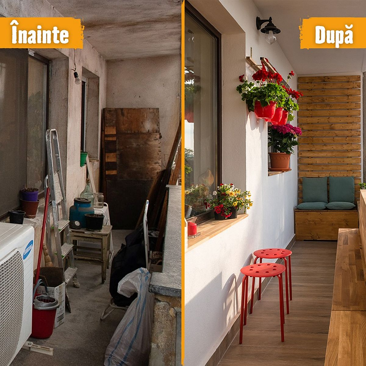 adelaparvu.com despre amenajare balcon Bucuresti, proiect Hornbach Romania (8)
