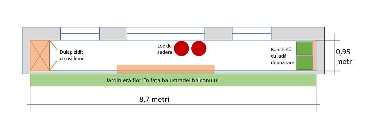 adelaparvu.com despre amenajare balcon Bucuresti, proiect Hornbach Romania (9)