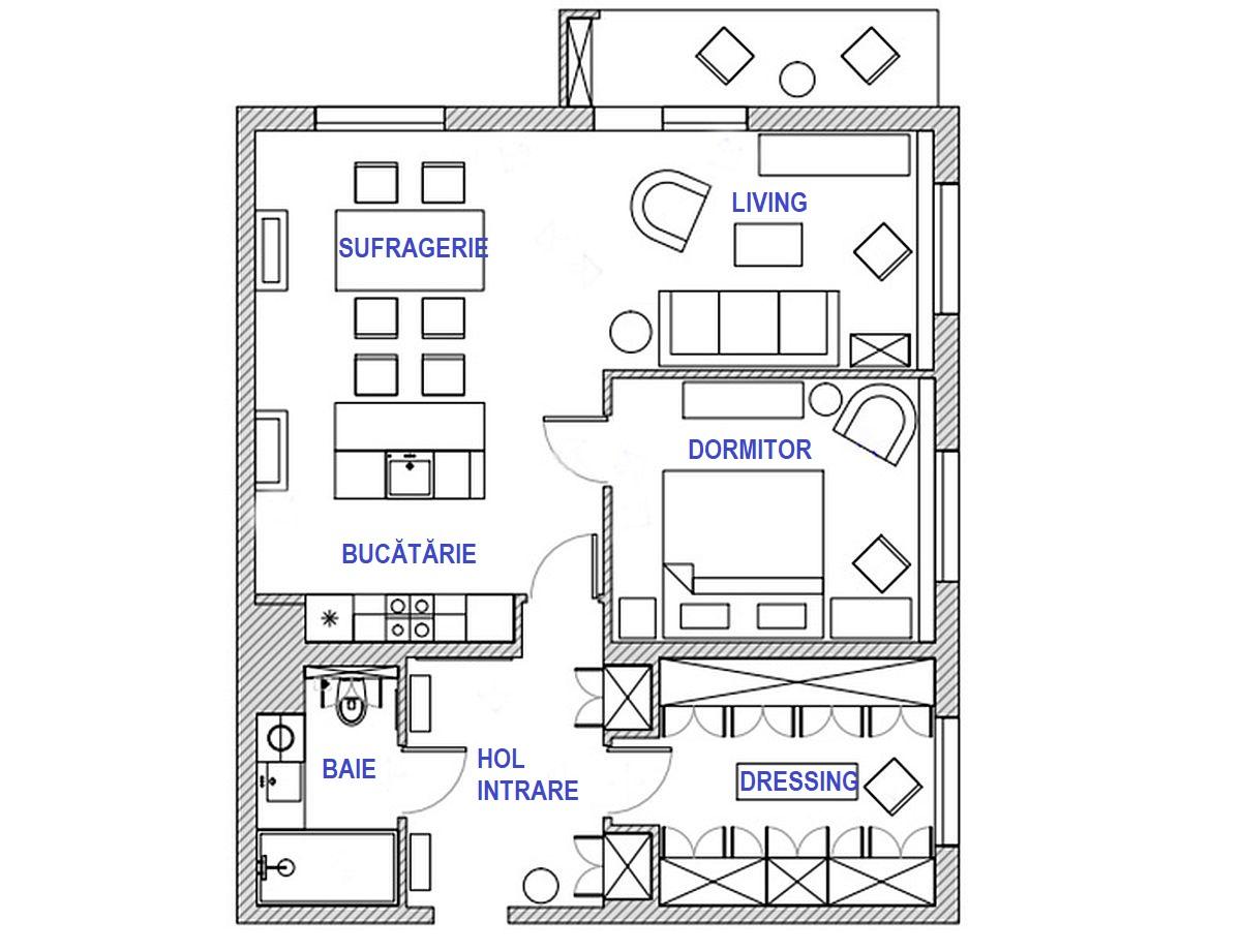 adelaparvu.com despre amenajare eleganta apartament 80 mp, design Enjoy Design