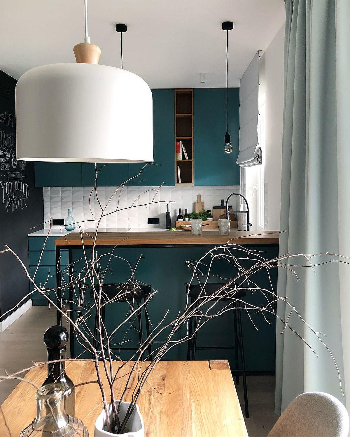 adelaparvu.com despre apartament 65 mp in culori de turcoaz, design 101wnetrz, Foto Pion Poziom (1)