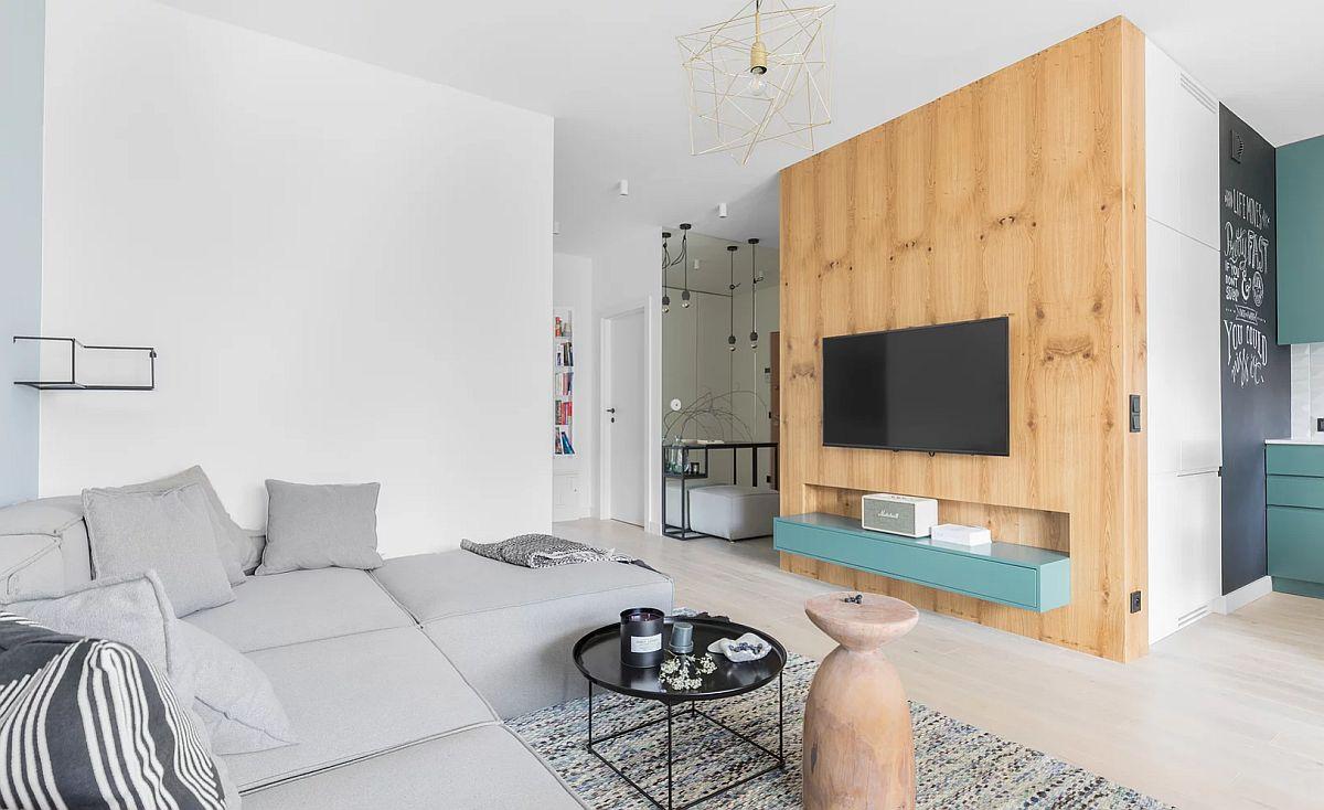 adelaparvu.com despre apartament 65 mp in culori de turcoaz, design 101wnetrz, Foto Pion Poziom (12)