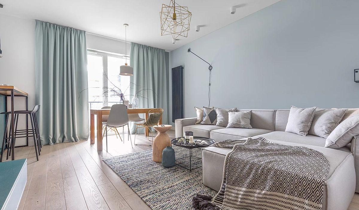 adelaparvu.com despre apartament 65 mp in culori de turcoaz, design 101wnetrz, Foto Pion Poziom (14)