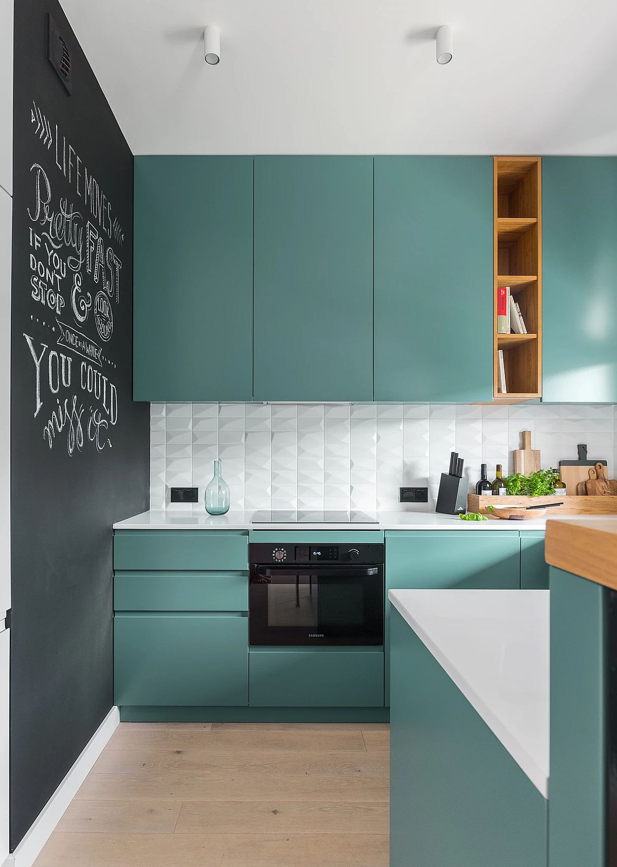 adelaparvu.com despre apartament 65 mp in culori de turcoaz, design 101wnetrz, Foto Pion Poziom (17)