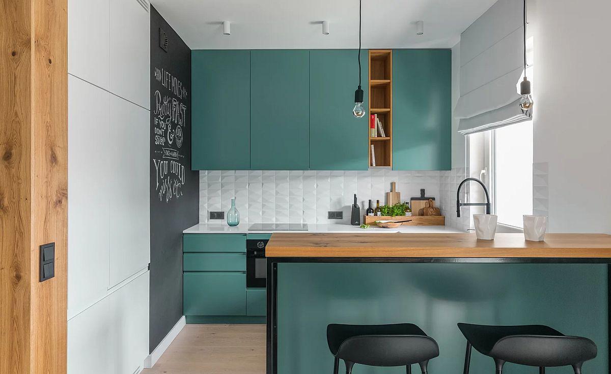 adelaparvu.com despre apartament 65 mp in culori de turcoaz, design 101wnetrz, Foto Pion Poziom (7)