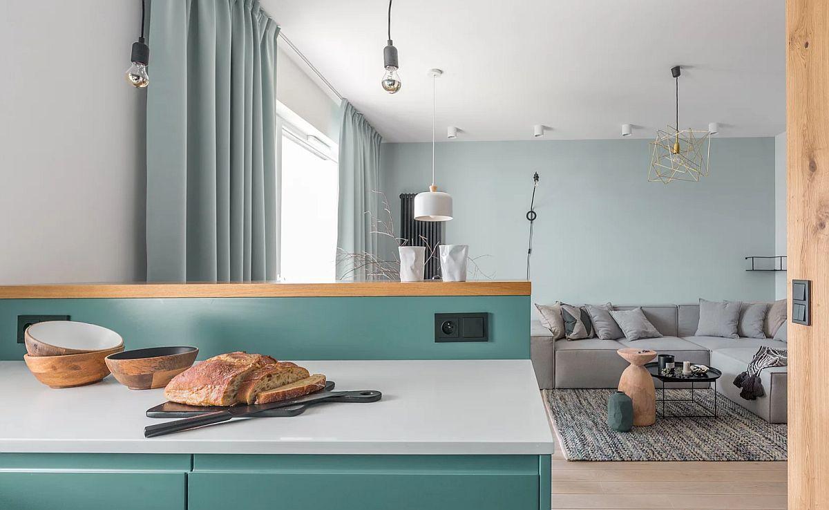adelaparvu.com despre apartament 65 mp in culori de turcoaz, design 101wnetrz, Foto Pion Poziom (8)