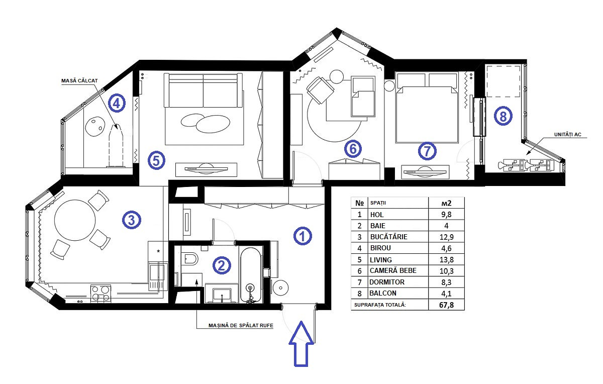 adelaparvu.com despre apartament 67 mp pentru familie cu copil, design Anna Morozova, Foto Dina Alexandrova (41)