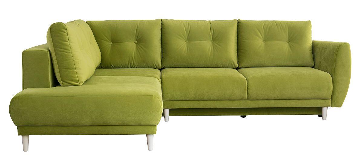 Colțar Emma extensibil. Include funcție pat și ladă pentru depozitare. Disponibilă pe comandă și în alte culori, tapițerie de tip catifea. Dimensiuni și preț VEZI AICI.