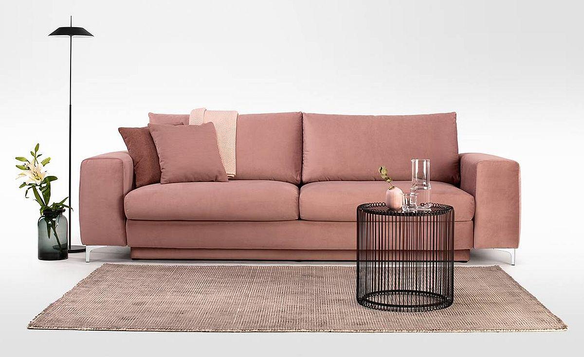 Canapea MOON. Include funcție pat și ladă pentru depozitare. Disponibilă pe comandă și în alte culori. Tapițerie tip catifea. Detalii și preț VEZI AICI.